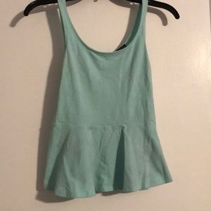 Tiffany blue peplum tank